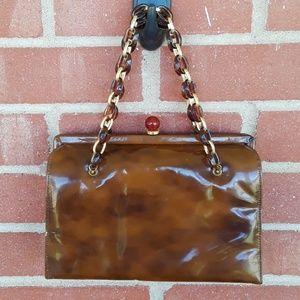Vintage 50s-60s Manon patent leather handbag
